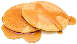 pancakes with maple syrup;