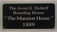 1889 Boarding House plaque